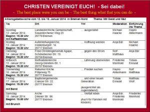 Allianzwoche 2014